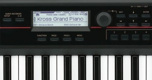 Korg Kross display piano