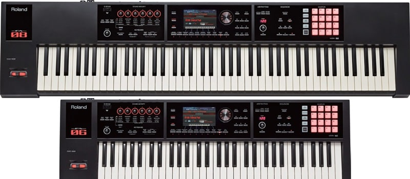 Roland FA-06 FA-08 synthesizer workstation keyboard review
