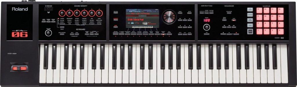 Roland FA-06 synthesizer keyboard
