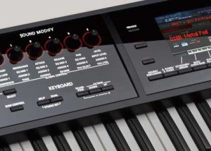 Roland FA display synth keyboard