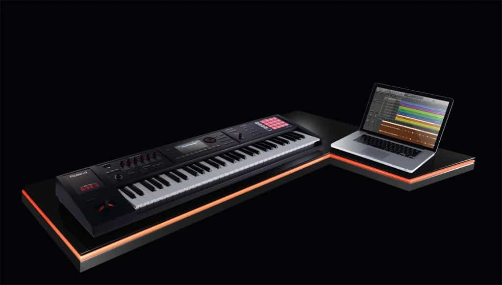 Roland FA keyboard laptop workstation