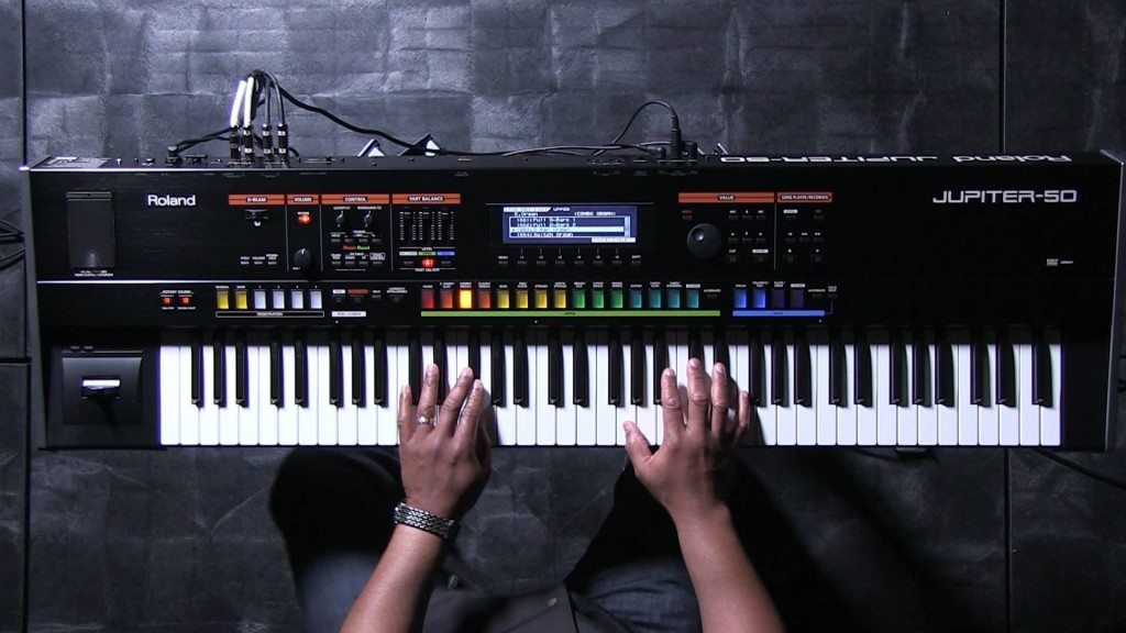Roland Jupiter 50 synthesizer wall review