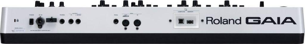 Roland Gaia SH-01 achterzijde