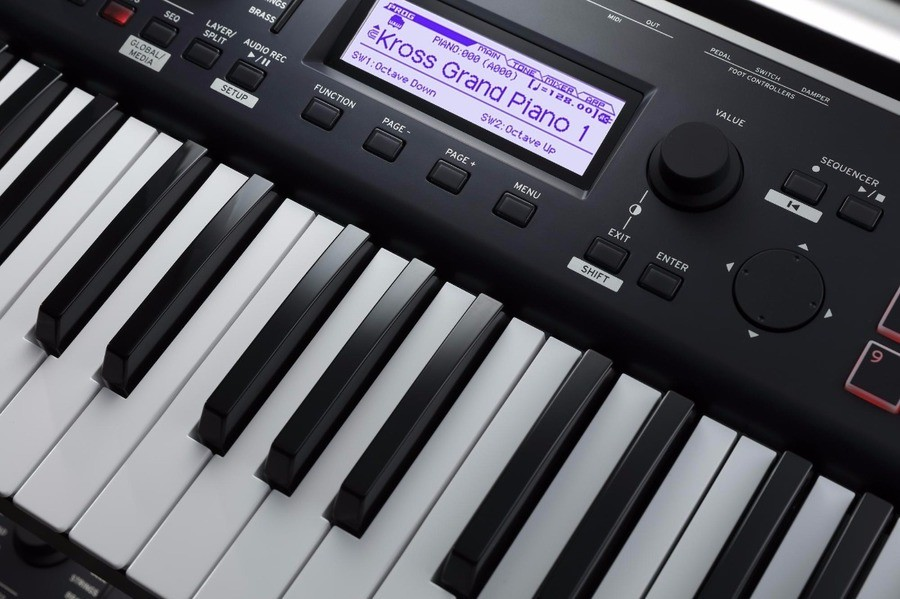 Korg Kross 2 Review scherm