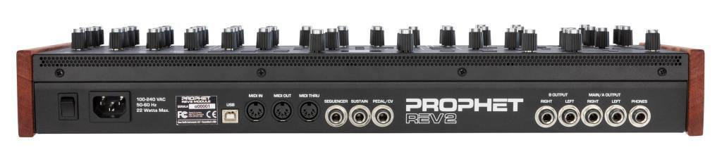 Achterpanel Dave Smith Instruments Prophet REV2