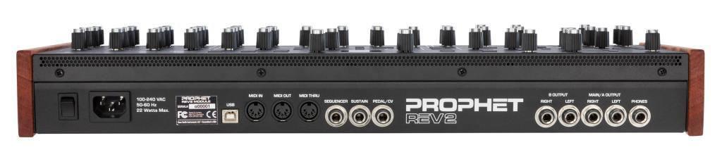 Achterpanel Dave Smith Instruments Prophet REV2