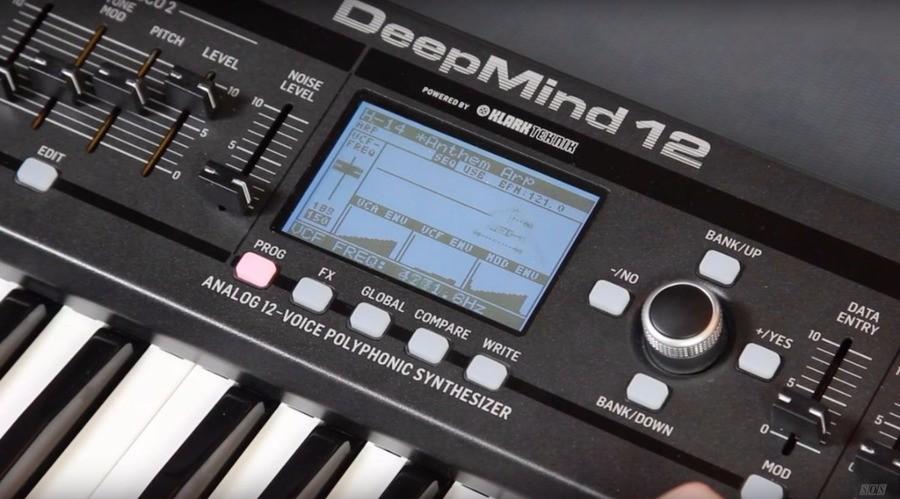 Behringer DeepMind 12 Review scherm