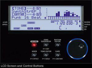 Casio WK-6600 lcd scherm