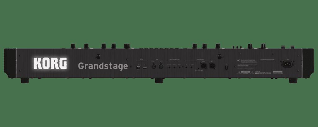 Review Korg Grandstage achterkant