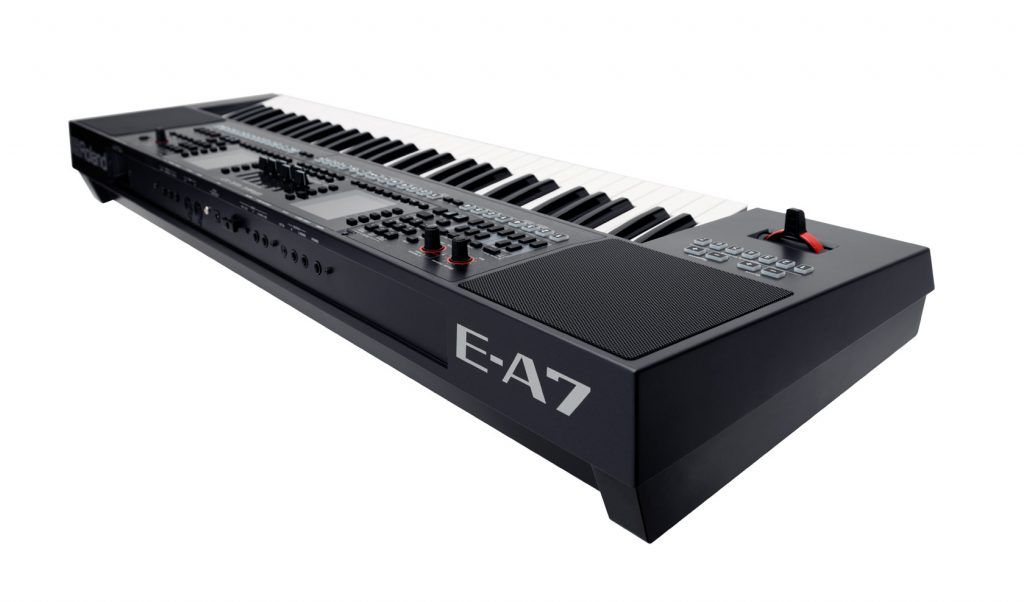keyboard Roland E-A7 review achterkant