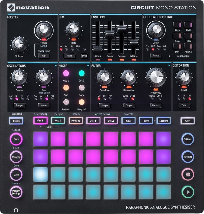 synthesizer kopen novation circuit mono station review