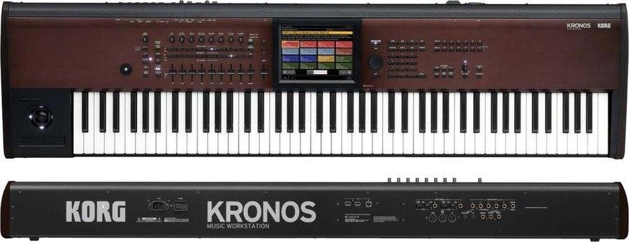 Korg Kronos 88 LS Review voor- en achterpaneel
