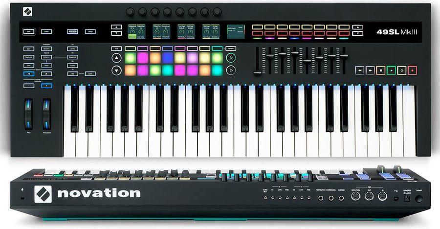 Novation SL MK3 Review voor- en achterpaneel