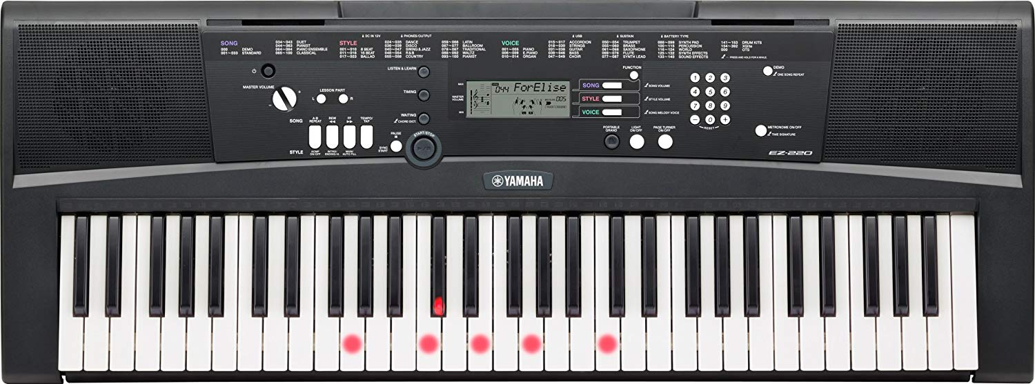 Yamaha EZ-220 Review beginnerskeyboard