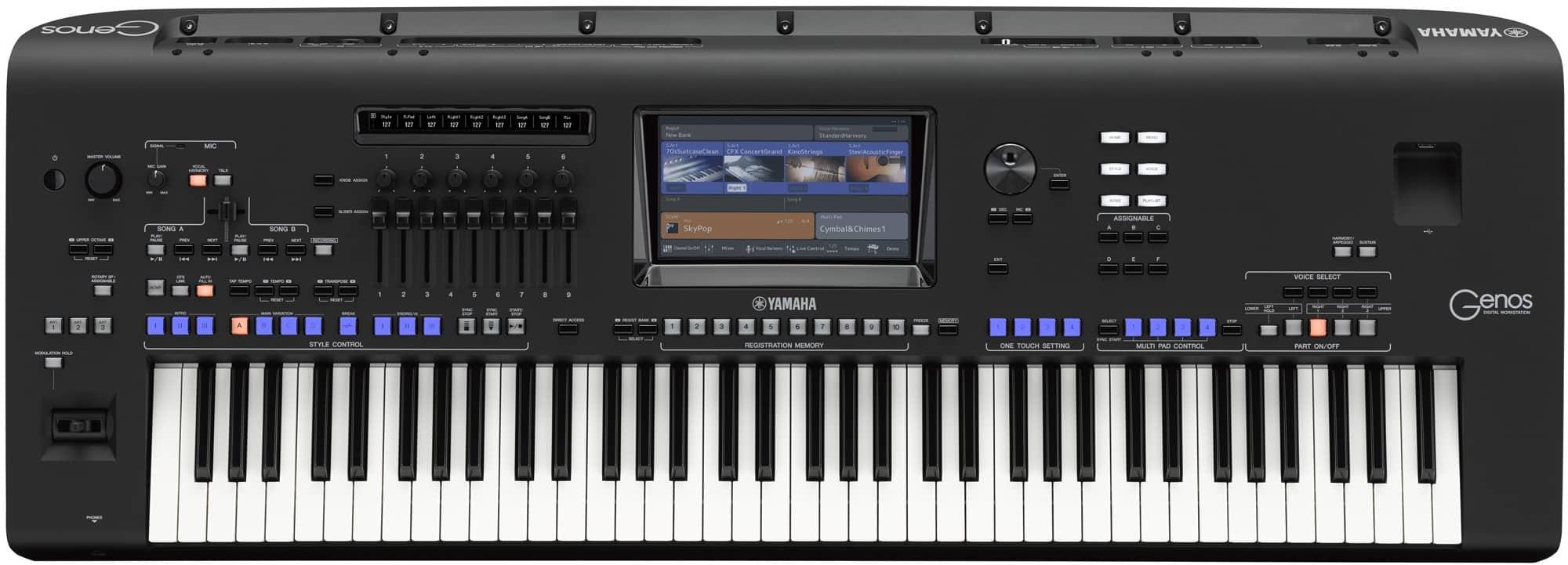Yamaha Genos Review voorpaneel