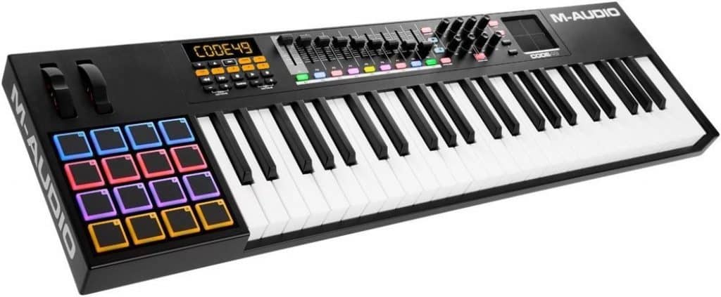 m-audio code 49 review beginnerskeyboard