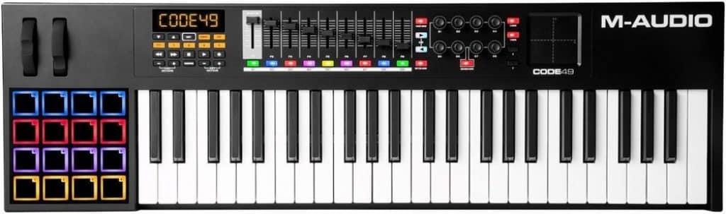 m-audio code 49 review keyboard voor beginners