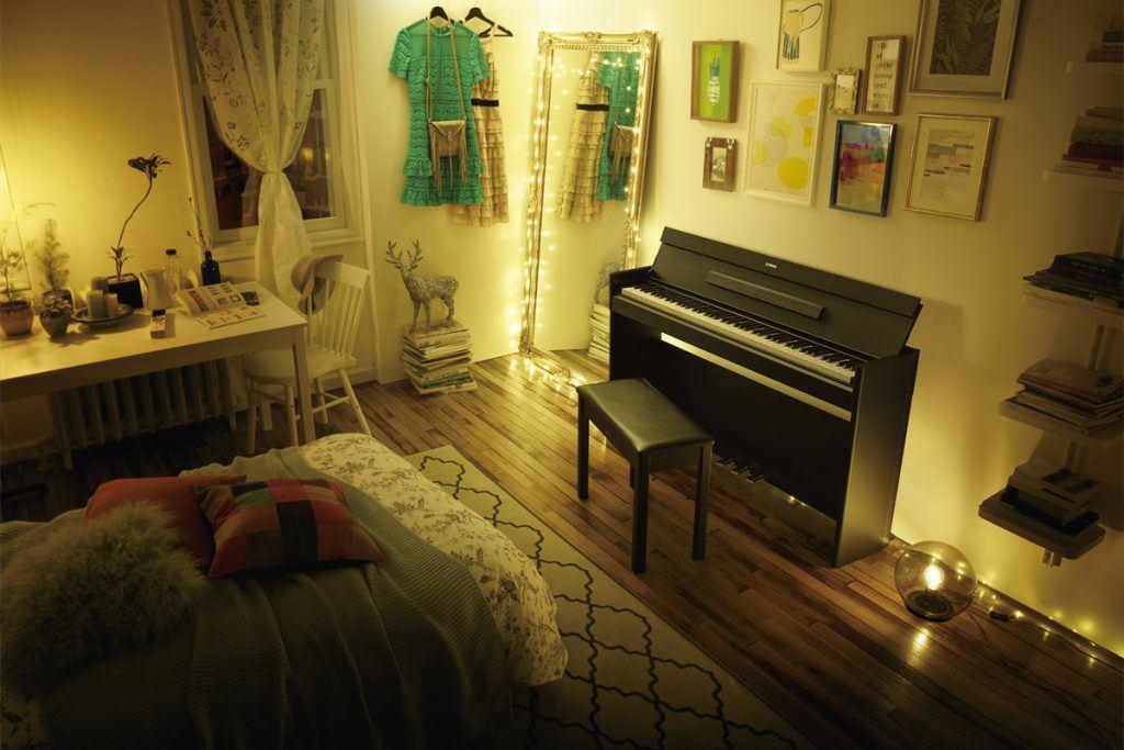 kleine digitale piano ruimtebesparend yamaha arius ydp-s54